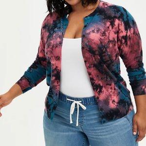 🆕 Tie Dye Button Front Cardigan Sweater 2X Torrid